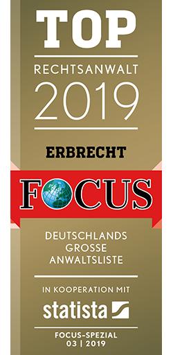 FCS Siegel TOP Rechtsanwalt 2019 Erbrecht 1