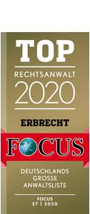 Siegel FOCUS Top Rechtsanwalt 2019
