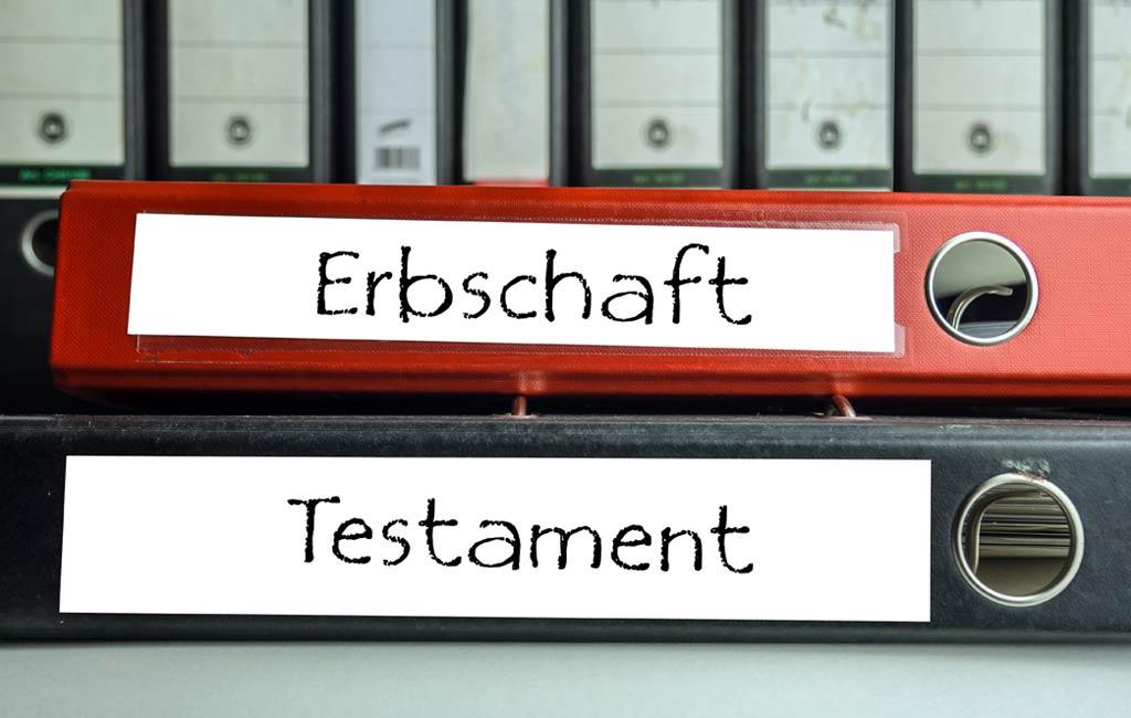 Erbschaft/Testament Aktenordner