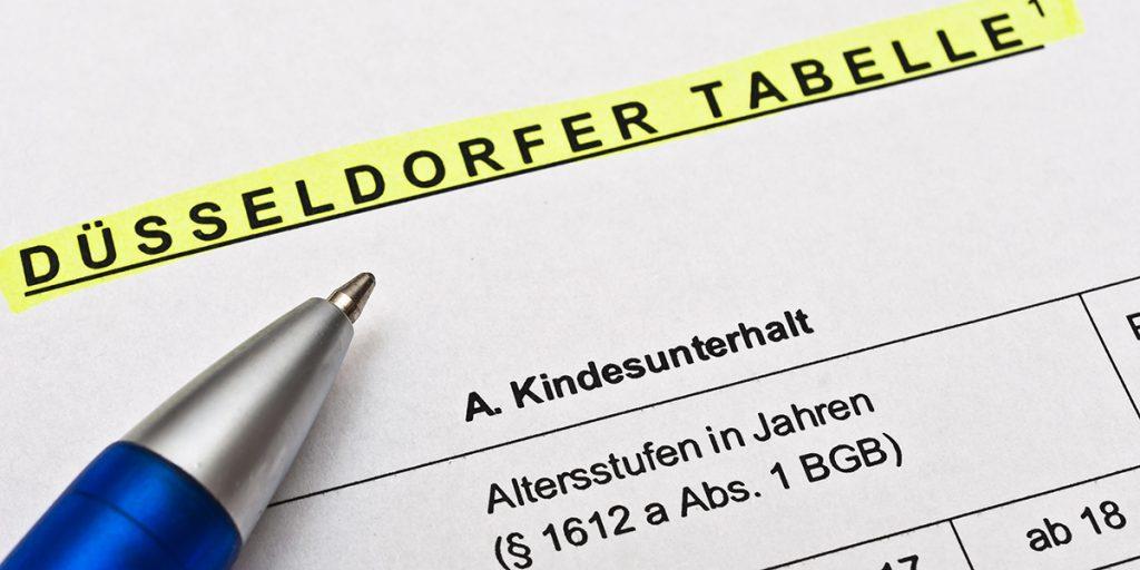 Düsseldorfer Tabelle zum Kindesunterhalt
