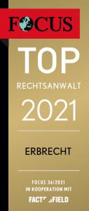 Frank Felix Höfer ist TOP Rechtsanwalt 2021 Erbrecht